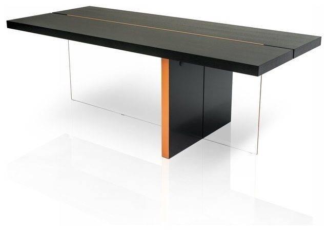 Vision Modern Black Oak Floating Dining Table Tables