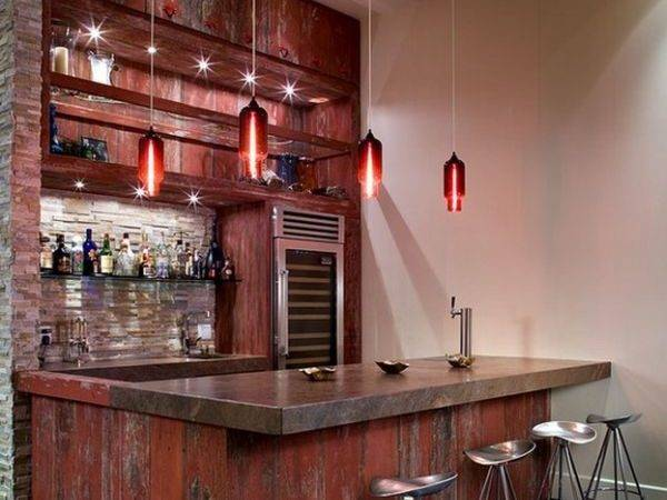 Vivacious Pendant Lights Give Home Bar Exclusive Look
