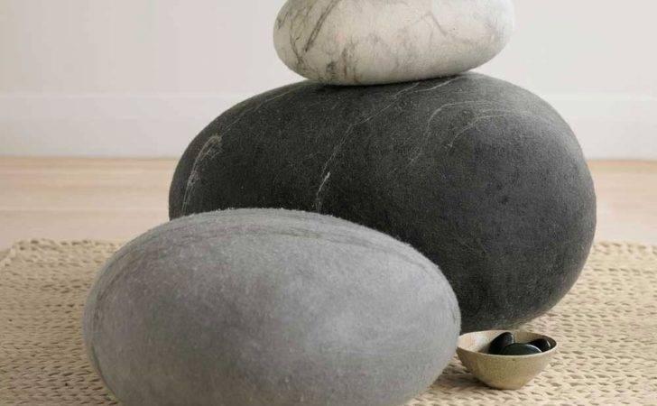 Vivaterra Stone Felted Wool Floor Pillow Wayfair