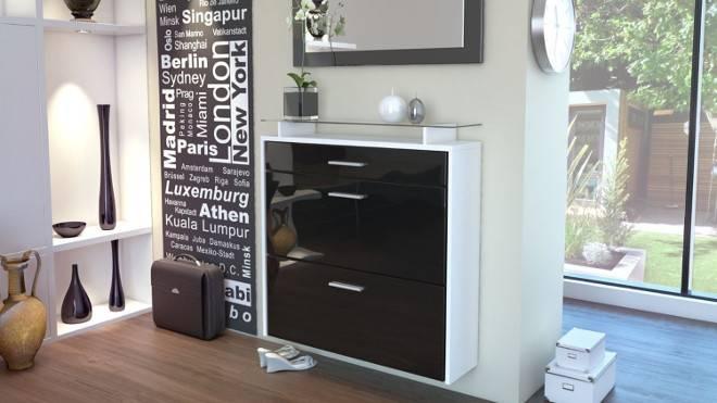 Vladon Contemporary Style Shoe Cabinets Ideas Storage