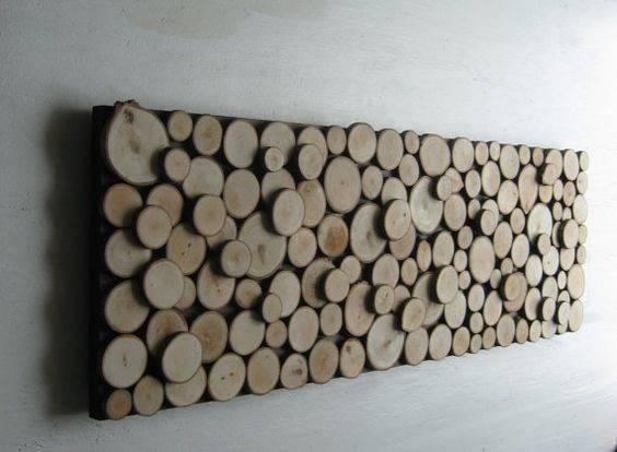 Wall Art Tree Rings Sculpture Wood Abstract Trees Branches