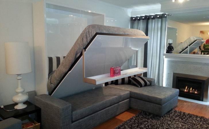 Wall Bed Sofa Combination Murphysofa Gas Mechanism Slatted Base
