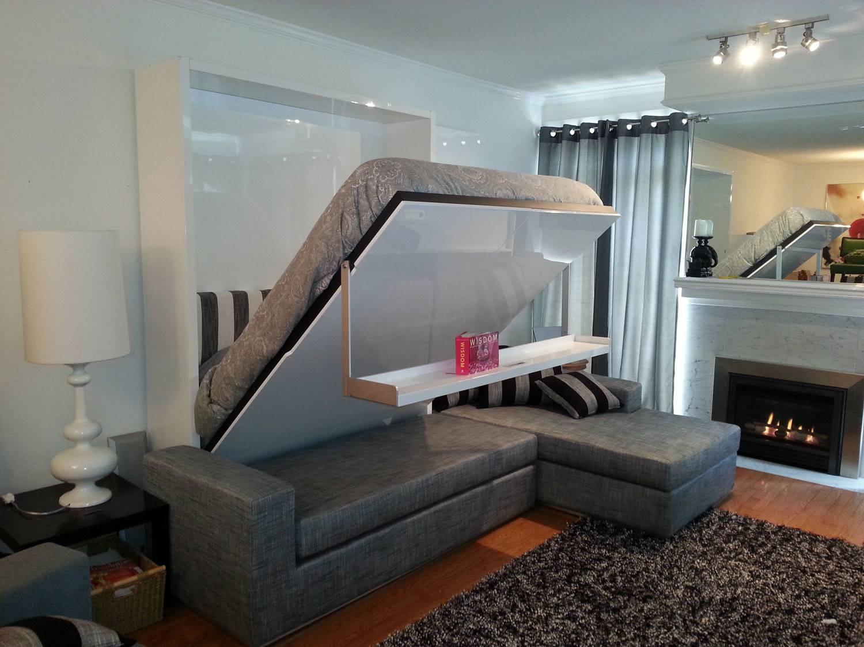 Wall Bed Sofa Combination Murphysofa Gas Mechanism