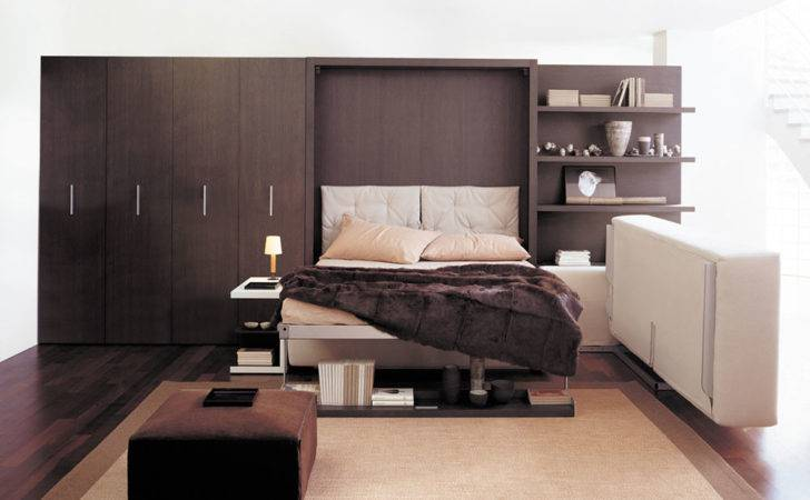 Wall Bed Unit Converts One Simple Movement Into Everyday