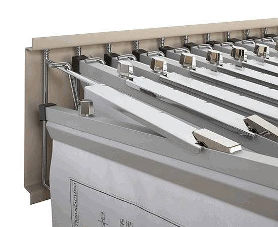 Wall Blueprint Storage Rack Pivoting Hanging Plan Holder