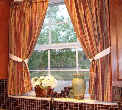 Wall Color Decoration Gorgeous Brown Window Curtain Ideas