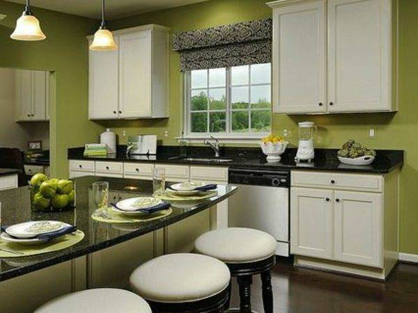 Wall Color Green Ideas Decoration Kitchen Countertop
