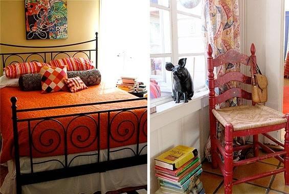 Wall Color Guest Bedroom Possible Orange Bed Like Headboard