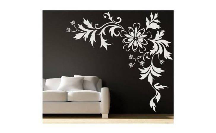 Wall Decal Corner Flower Art Vinyl Stickers