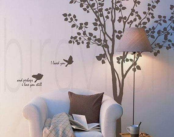 Wall Decal Corner Tree Birds Baby Room Office Decals