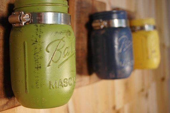 Wall Decor Painted Mason Jars Pineknobsandcrickets