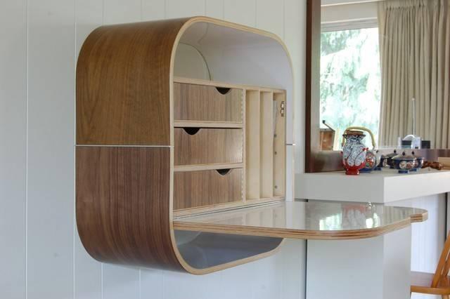 Wall Desk Contemporary Desks Hutches Vurv Design Studio