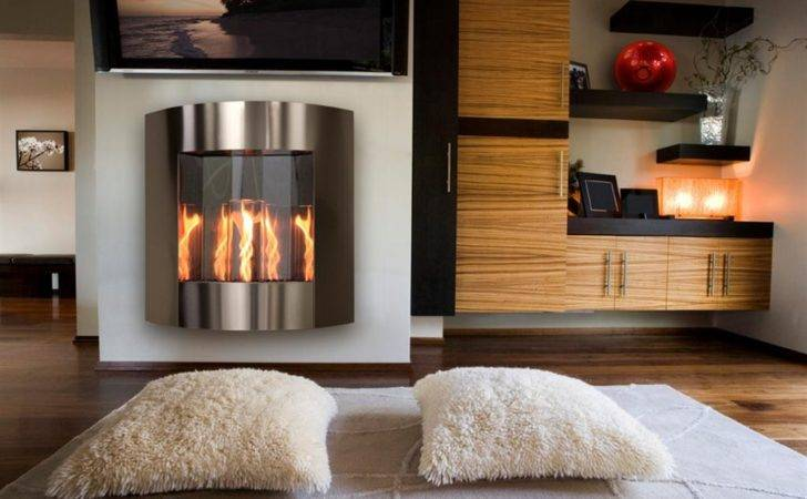 Wall Hanging Gel Fireplace Stainless Insp Outdoor Greatroom