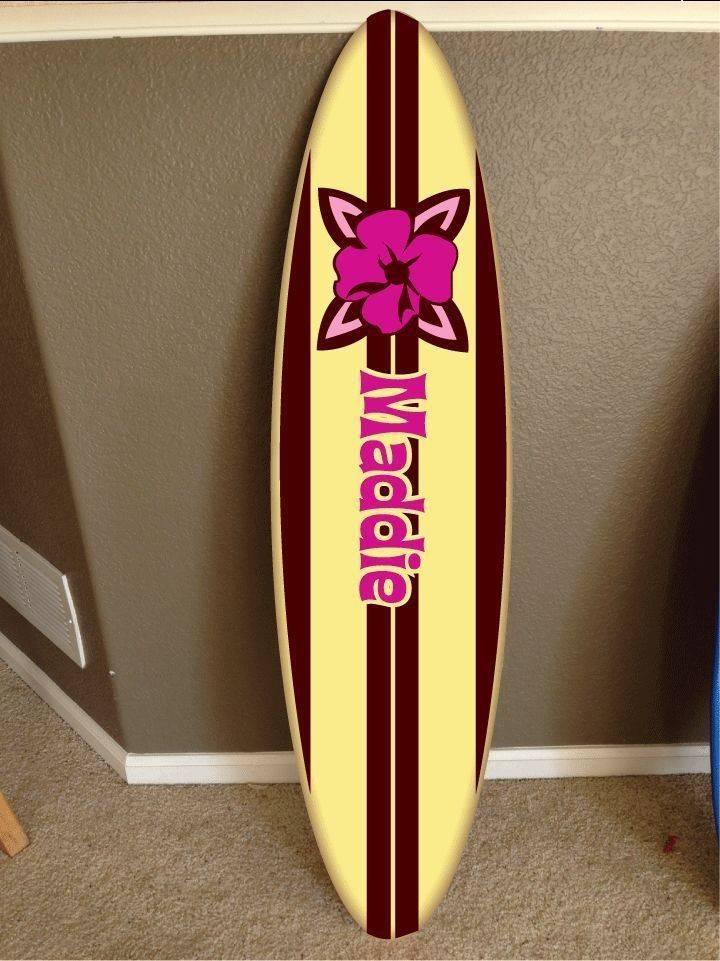 Wall Hanging Surf Board Surfboard Decor Hawaiian Beach Surfing Teen