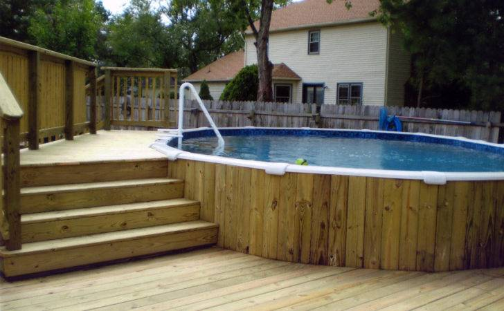 Wall House Above Ground Pools Decks Backyard Colors Dickoatts