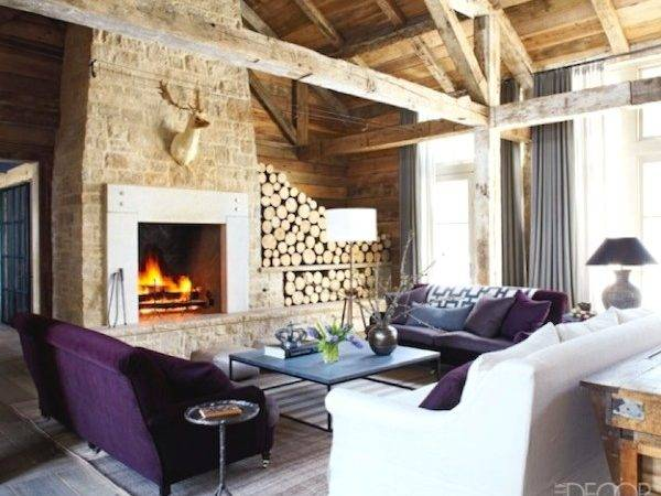 Wall Modern Rustic Wood Cabin Vacation Home Interior Design