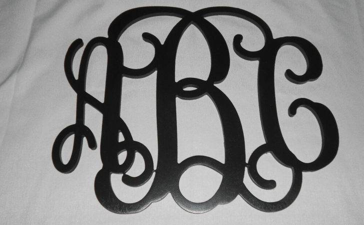 Wall Monogram Painted Letters Personalized