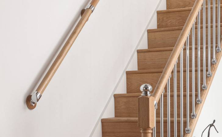 Wall Mounted Handrail Kit Select Timber Metal Finish