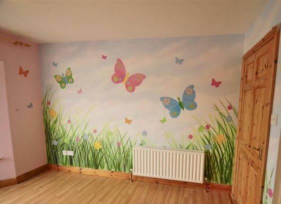 Wall Mural Butterfly Murals Gorgeous Girls