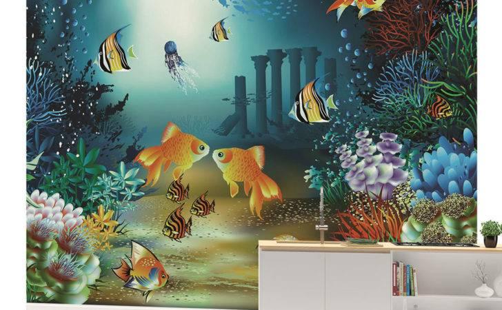 Wall Mural Sea Fish Boys Girls Bedroom