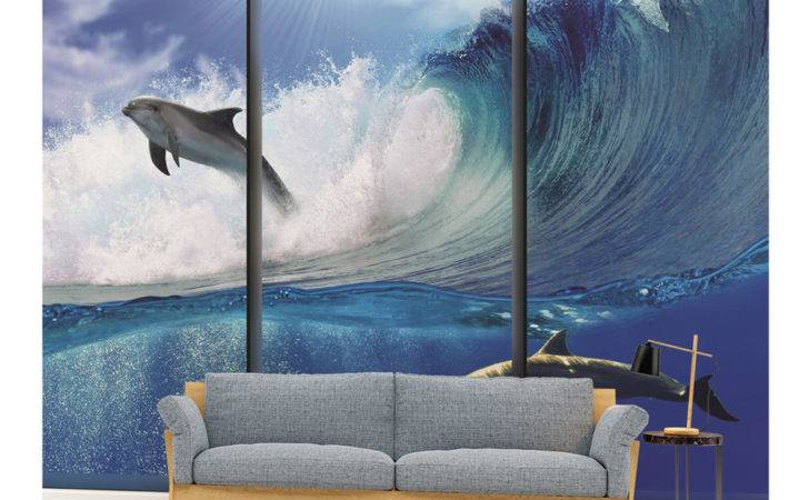 Wall Mural Veve Dolphins Boys Girls Bedroom