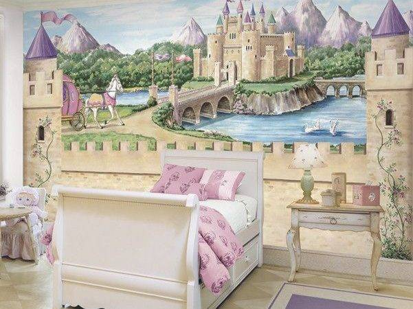 Wall Murals Fairy Princess Castle Mural Carriage Ebay