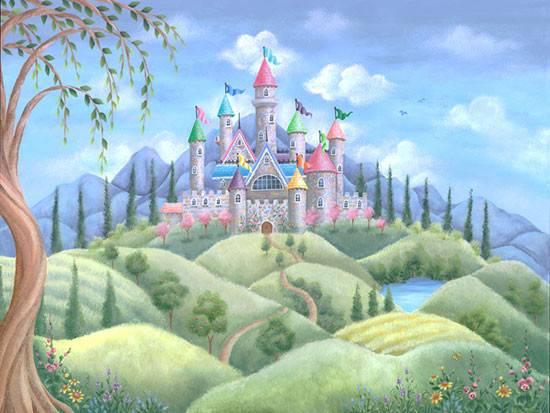 Wall Murals Make Your Little Girl Room Princess Castle