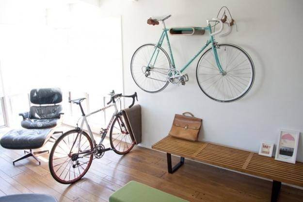 Wall Racks Made Wood Attractive Contemporary Interior Decorating
