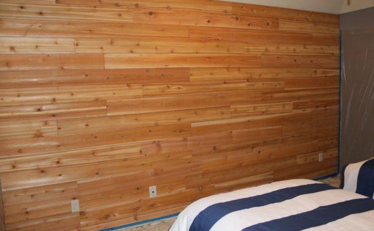 Wall Started Off Cedar Planks Instead Pine