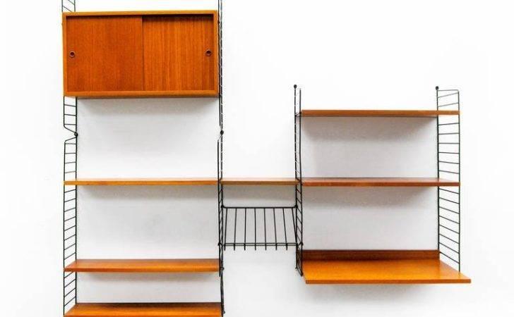 Wall Unit Nisse Strinning String Teak Shelving System Stdibs