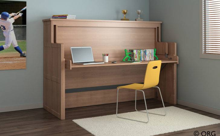 Wallbed White Office Desk Bed