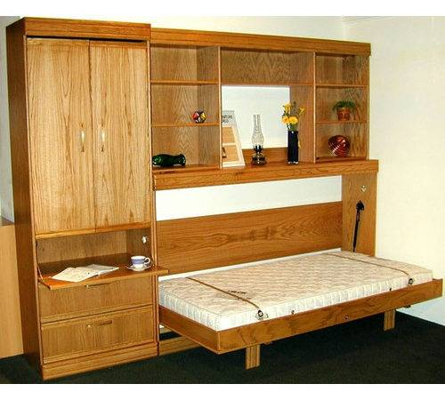 Wallbeds Contemporary Horizontal Twin Murphy Bed Reviews Wayfair