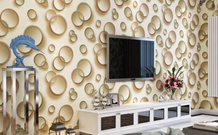 Walls Circle Designs Non Woven Living Room Bedroom