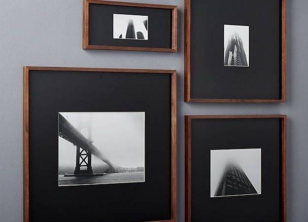 Walnut Frames Black Mats