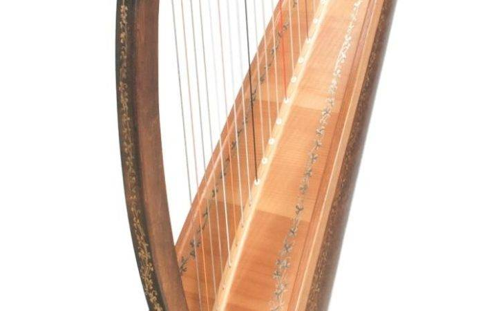 Walnut Harp Clover Decoration Marked Clark Irish