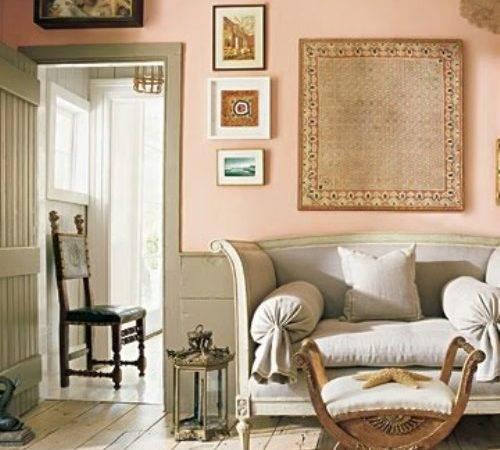 Wand Streichen Ideen Mit Grau Rosa Wohnzimmer Holzboden
