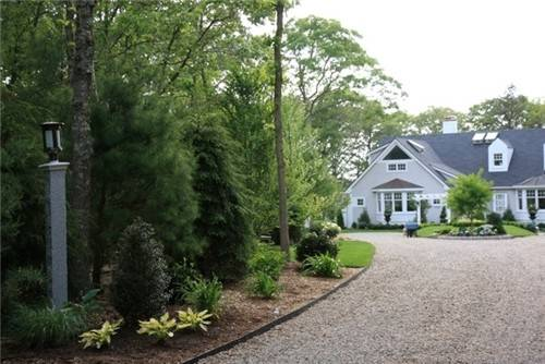 Waquoit Bay Home Driveway Front Entrance Given Makeover