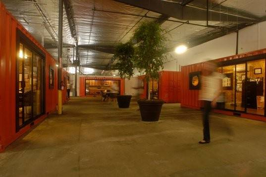 Warehouse Into Office Space Orange County Shipping Container