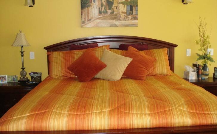 Warm Yellow Orange Bedroom Casa Pinterest