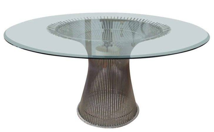 Warren Platner Nickel Plated Wire Dining Table Knoll