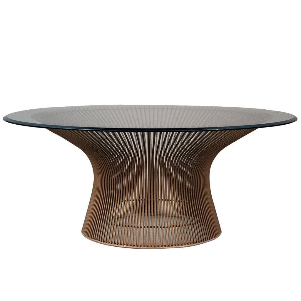 Warren Platner Original Bronze Coffee Table Longer