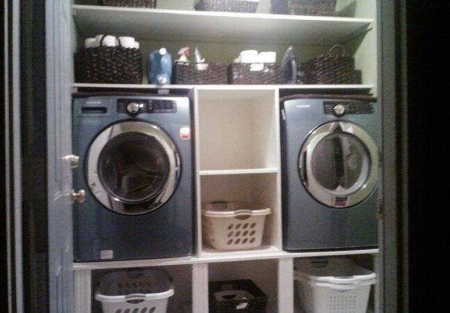 Washer Dryer Storage Master Suite Ideas Pinterest