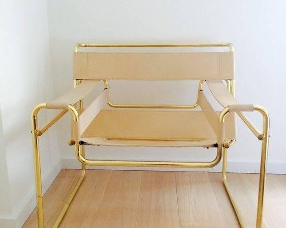 Wassily Chair Replica Rare Brass Frame Lower Manhattan New