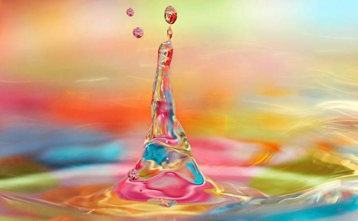 Water Art Colorful Uhd