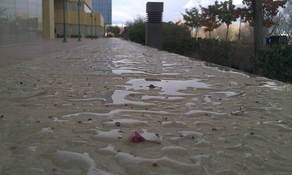 Water Beads Limestone Treated Natural Stone Treatment