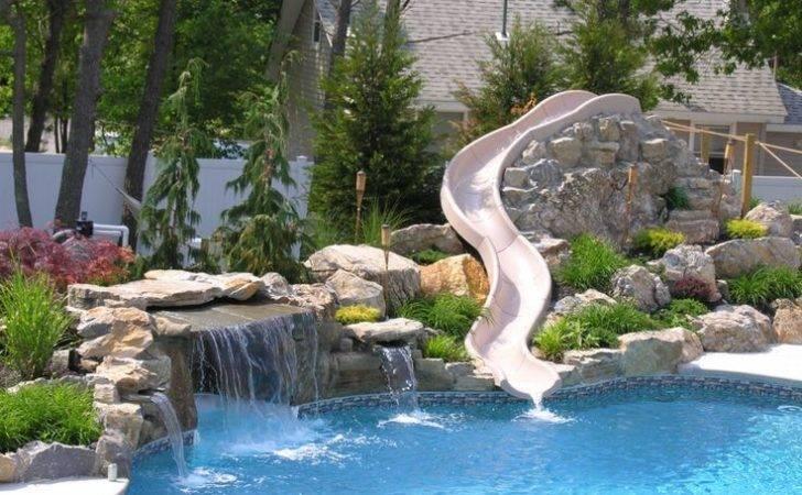 Water Slide Pool Town Howell Swimming Pools Slides