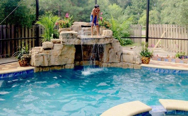 Waterfalls Boulder Accents Pools Pinterest Decking