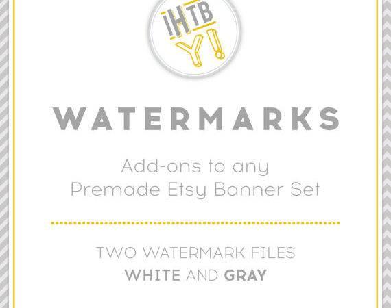 Watermarks Addon Premade Etsy Banner Limonyellow