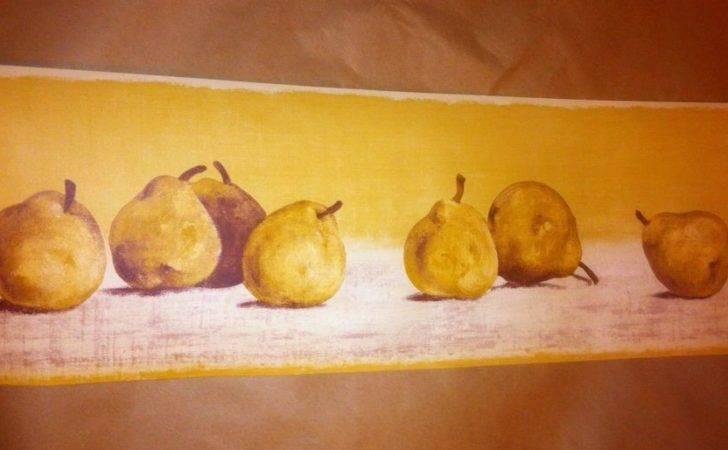 Waverly Tuscan Fruit Pear Kitchen Theme Decor Wall Border