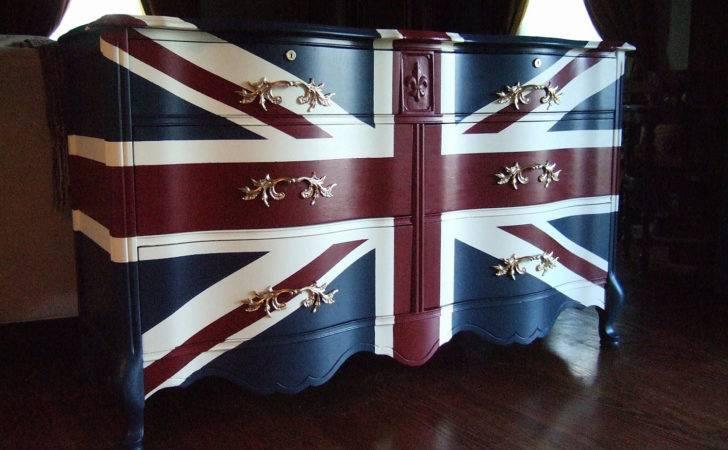 Waving Union Jack Dressers Buffets